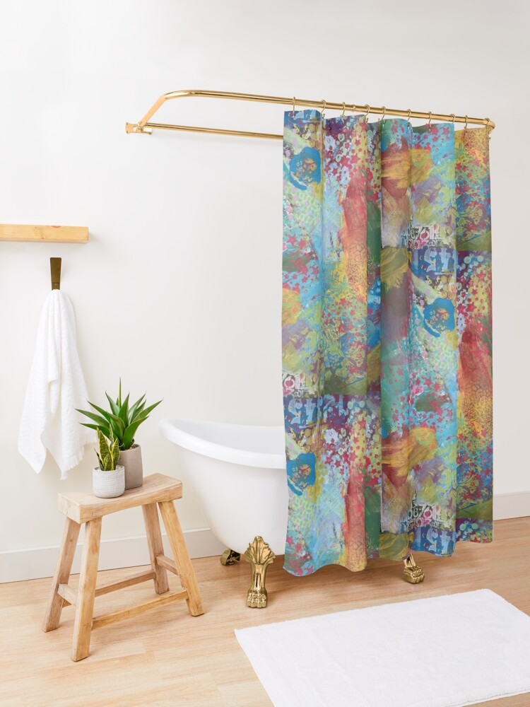 Alternate view of What Love Looks Like Shower Curtain