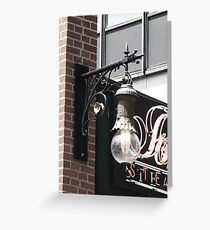 steakhouse Greeting Card