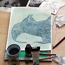 Totemic Animal - SoJie 12 Workshop - WIP 4 (b) by Ina Mar