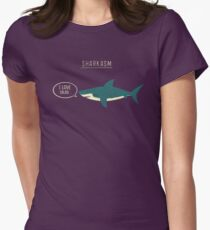 Sharkasm Womens Fitted T-Shirt