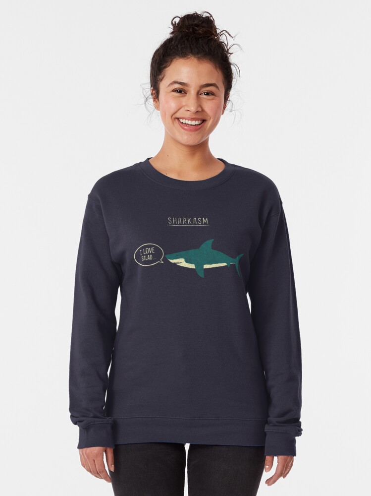 Alternate view of Sharkasm Pullover Sweatshirt