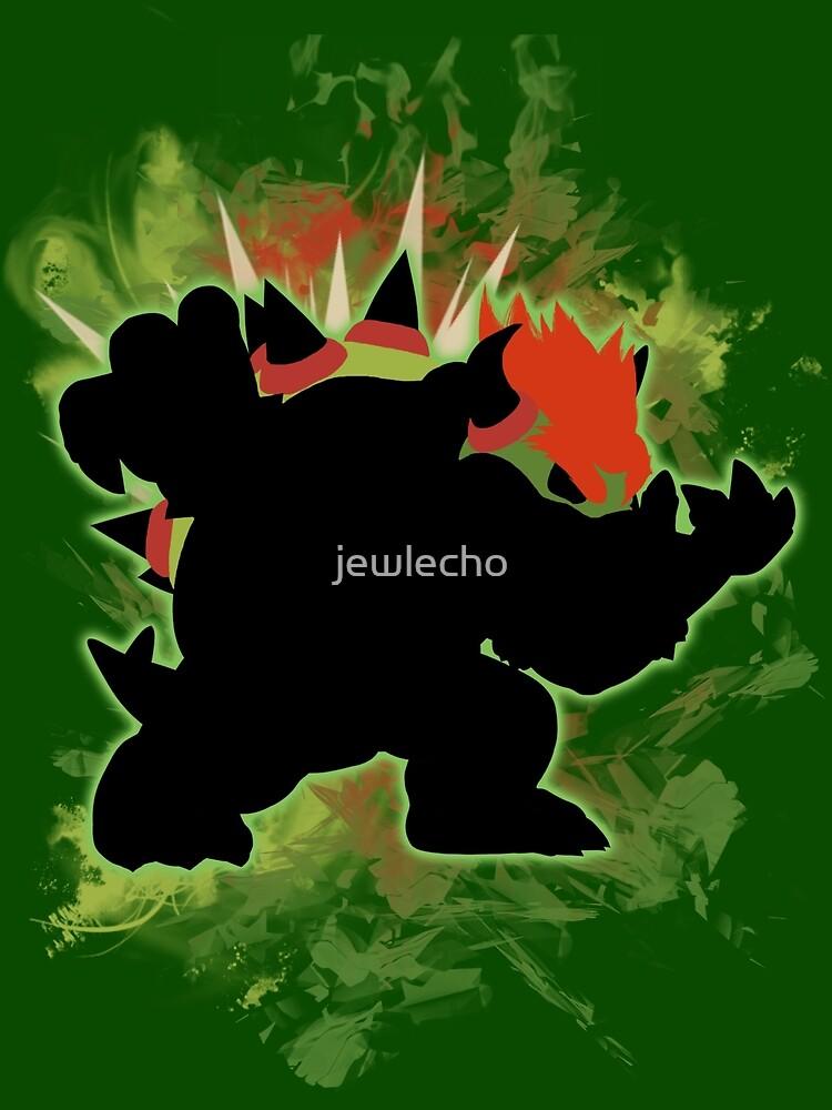 Super Smash Bros. Green Bowser Silhouette by jewlecho