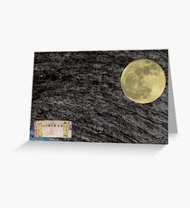 Spaceflight. on the way to the Moon frame 12. Greeting Card