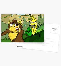 Monkey Banana Irony Postcards