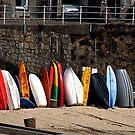 Kayak's Waiting by © Loree McComb