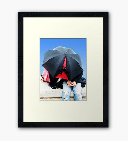 Boudoir/Burlesque Brolly Framed Print