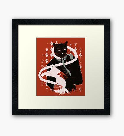 cat loves cats Framed Print
