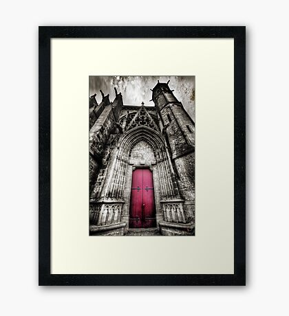 Carcassonne Cathedral Framed Print