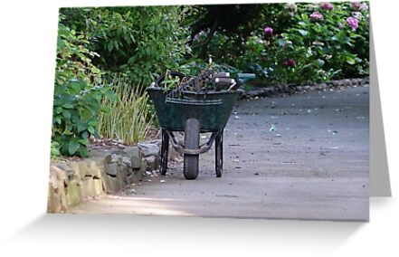 Wheelbarrow at Dunster Castle by frogs123