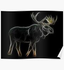 Medicine Wheel Totem Animals by Liane Pinel-Moose Poster
