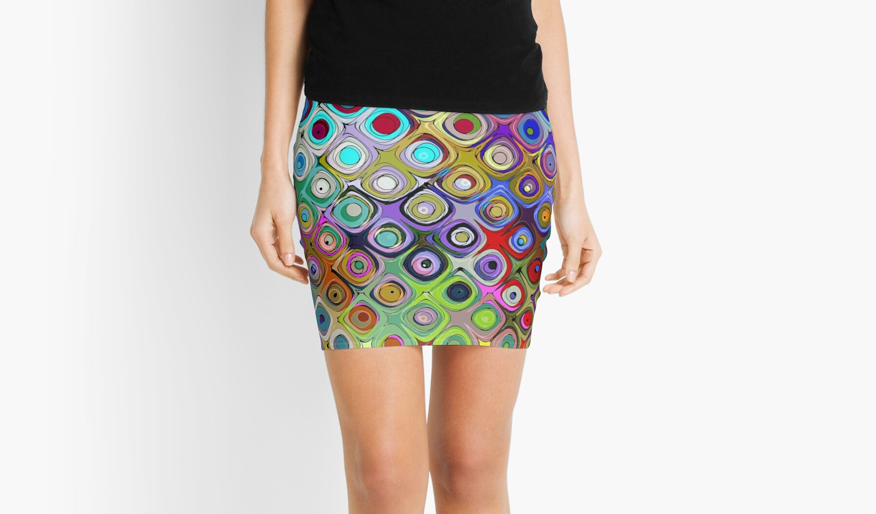 Colorful Abstract Circles Pattern by Phil Perkins