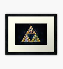The Triforce... and a bit of darkness Framed Print
