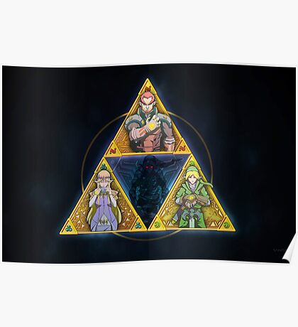 The Triforce... and a bit of darkness Poster