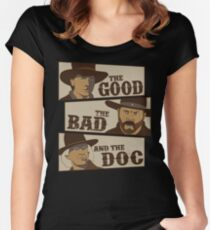 The Good, The Bad, And The Doc Women's Fitted Scoop T-Shirt