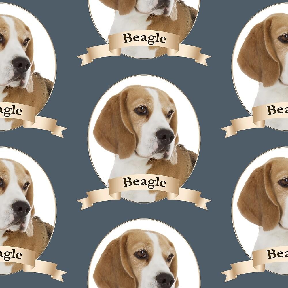 Beagle Portrait by DogLove