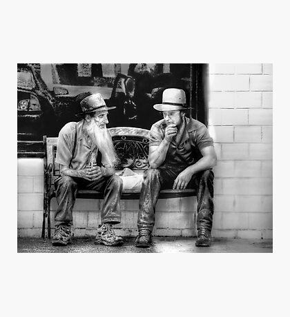 Amish Elder sharing Words of Wisdom Photographic Print