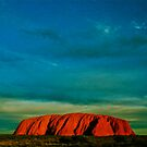 *Wild Sky At Sunset Over Uluru* by Ronald Rockman