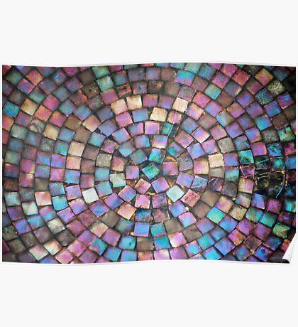 Mosaic - Outdoor Bird Bath Poster