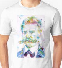 FRIEDRICH NIETZSCHE watercolor portrait Unisex T-Shirt