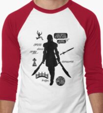 Dragon Age - Zevran Quotes Men's Baseball ¾ T-Shirt
