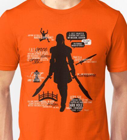 Dragon Age - Zevran Quotes Unisex T-Shirt
