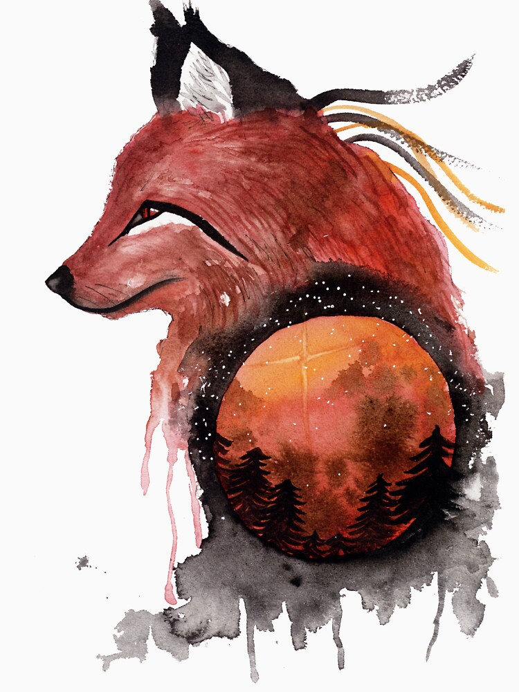 Tetrad the Bloodmoon Fox  by creaturesofnat
