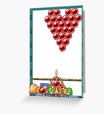 Puzzle Bobble Greeting Card