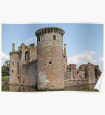 Caerlaverock Castle,Scotland,UK Poster