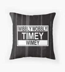 Timey Wimey Throw Pillow