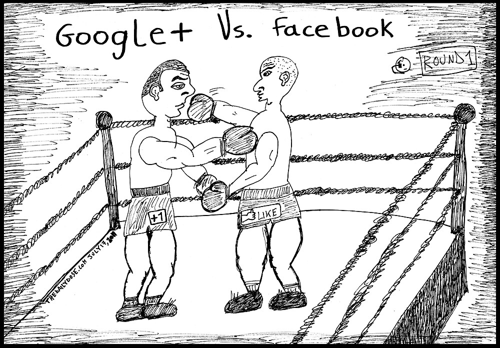 Super Heavyweight Social Network Title Fight by bubbleicious