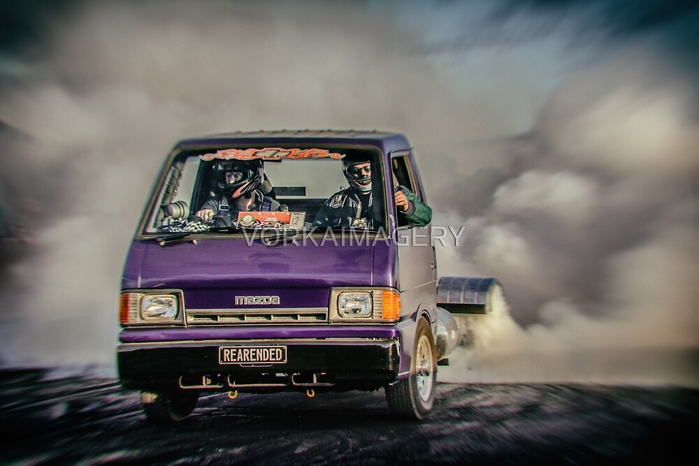 REARENDED Bairnsdale Dragway Burnout by VORKAIMAGERY