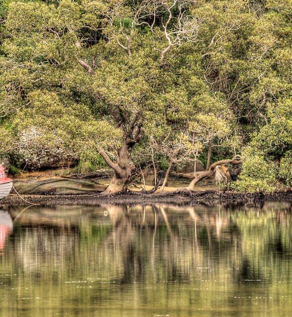 Lonely Boat - Patonga Creek by Jason Ruth