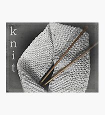 Knit Photographic Print