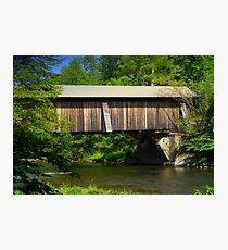 Motts Flats Covered Bridge Photographic Print