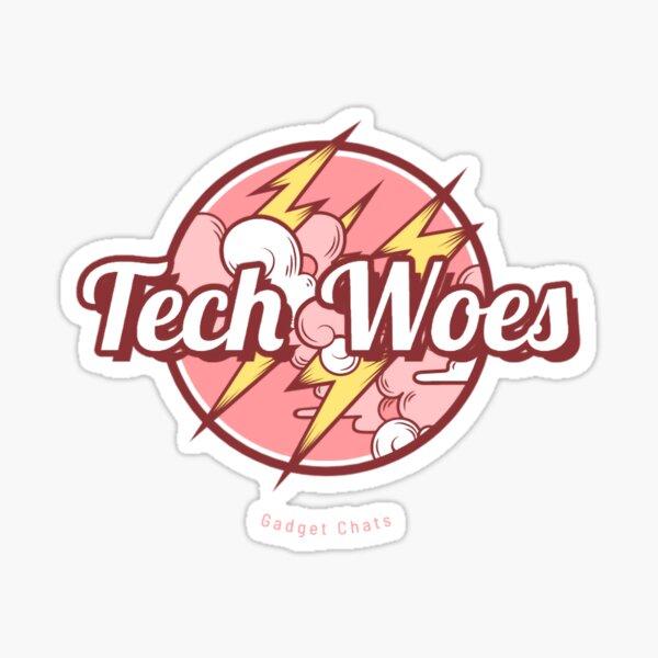Tech Woes - Pink Sticker