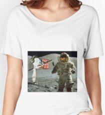 Moon landing by WRTISTIK Women's Relaxed Fit T-Shirt