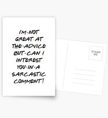 CAN I INTEREST YOU IN A SARCASTIC COMMENT? Postcards