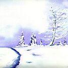 Crystal Mountain - Landscape Watercolour by Brazen Design Studio
