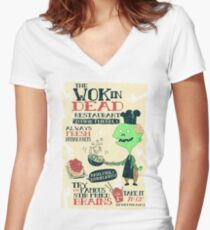 The Wok In Dead Women's Fitted V-Neck T-Shirt