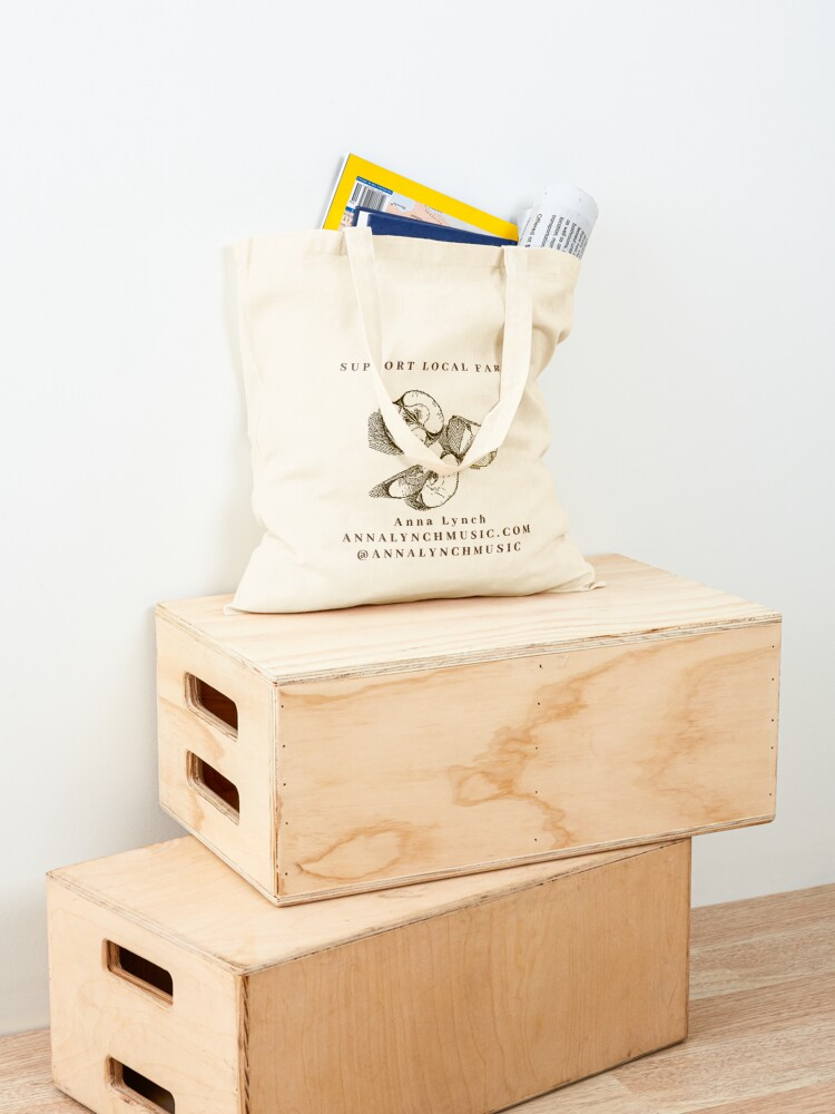 Alternate view of SUPPORT LOCAL FARMS- Tote- Anna Lynch Tote Bag