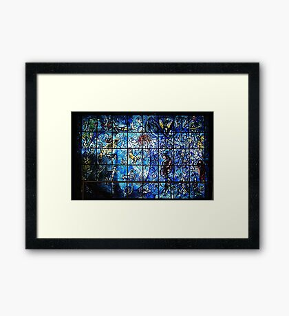 Chagall Stained Glass  Framed Print