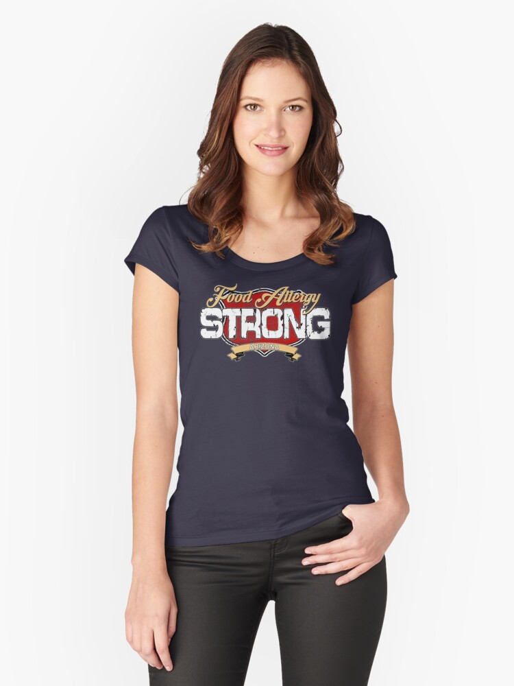 Food Allergy Strong - ARIZONA Women's Fitted Scoop T-Shirt Front