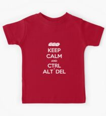 Keep Calm - Ctrl + Alt + Del Kids Tee