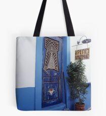 Amorgos Blues Tote Bag