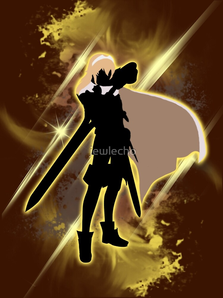 Super Smash Bros. Yellow Lucina Silhouette by jewlecho