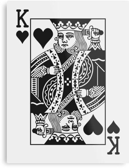 Quot King Of Hearts Black Quot Metal Prints By Joshdbb Redbubble