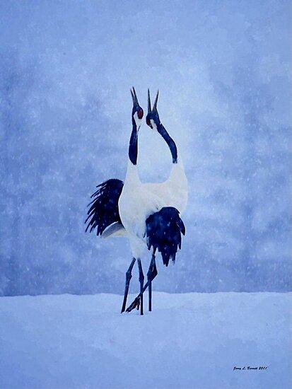 Red Crowned Crane by artstoreroom