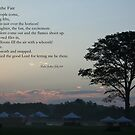 Morning at the fair, with poem by Linda Jackson
