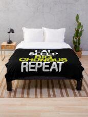Eat Sleep Big Chungus Repeat Chungus Meme Throw Blanket
