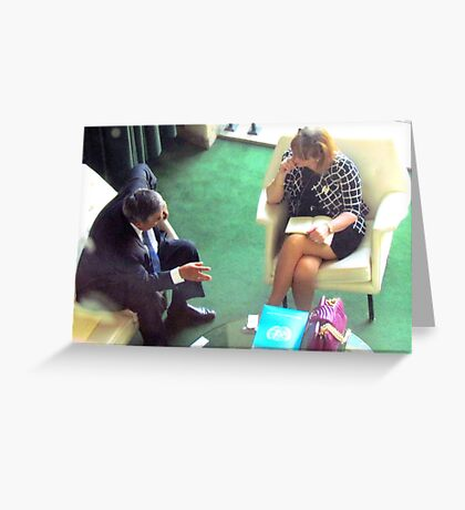 Business Meeting, United Nations - NYC Greeting Card